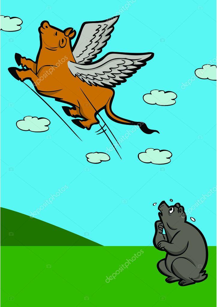 Картинки по запросу летающий бык