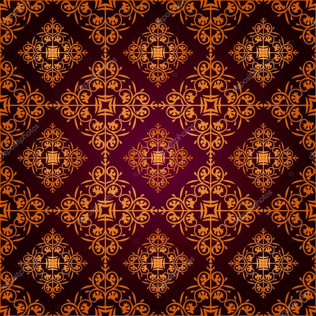 Seamless Gothic Wallpaper Vector By Sundar