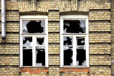 Two broken windows