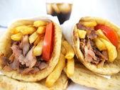Fotografie řecké jídlo gyros
