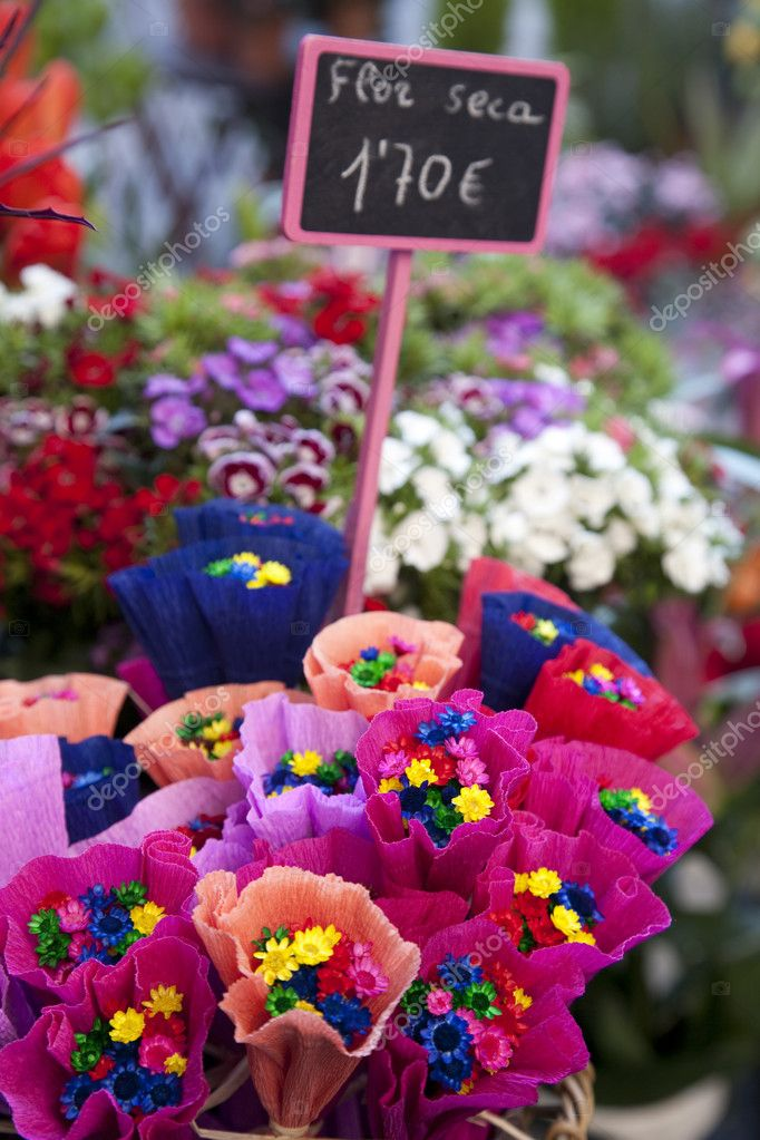 Dried Flowers for Sale — Stock Photo © kevers #4917559