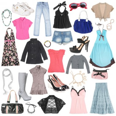 Different female clothes, shoes and accessories. #2