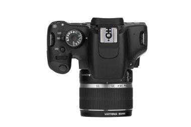 Digital Single Lens Reflex-top view (clipping path)