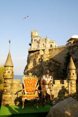 The lock on a rock. Crimea, Ukraine