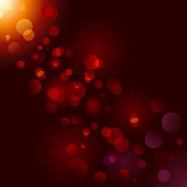 Magic sparkle, light dots; vector bokeh effect