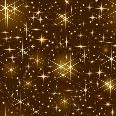 Seamless starry sky, christmas sparkle