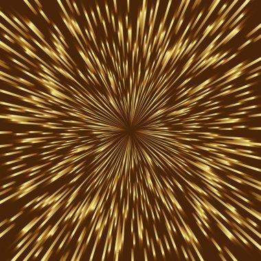 Golden vector fireworks