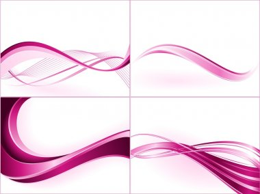 Purple pink wavy pattern