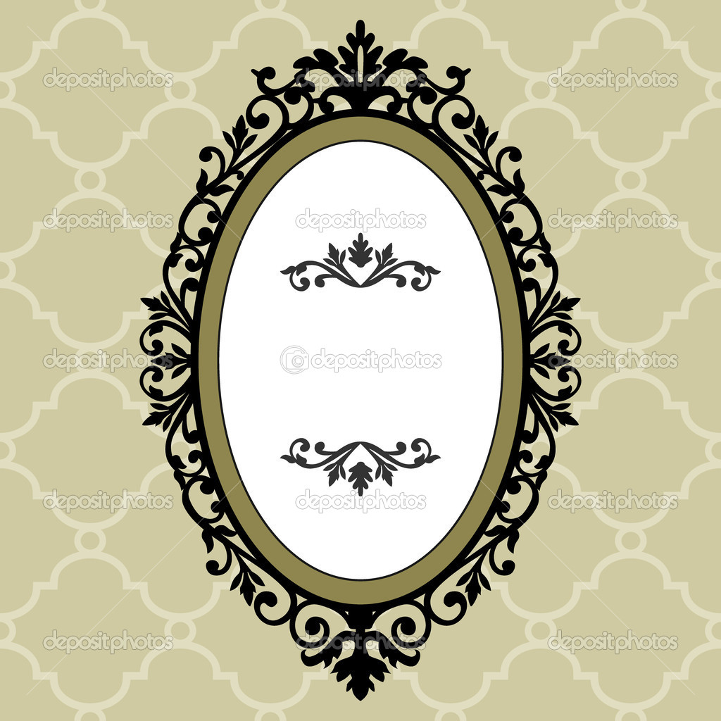 marco decorativo de vendimia oval — Vector de stock © ElaKwasniewski ...
