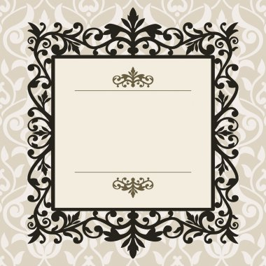 Decorative frame on the retro background with space for your text, full scalable vector graphic for easy editing and color change stock vector