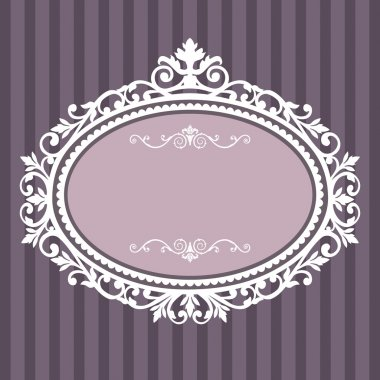 Decorative white frame on the retro background with space for your text, full scalable vector graphic for easy editing and color change stock vector