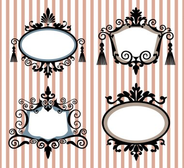 Set of decorative vector frames