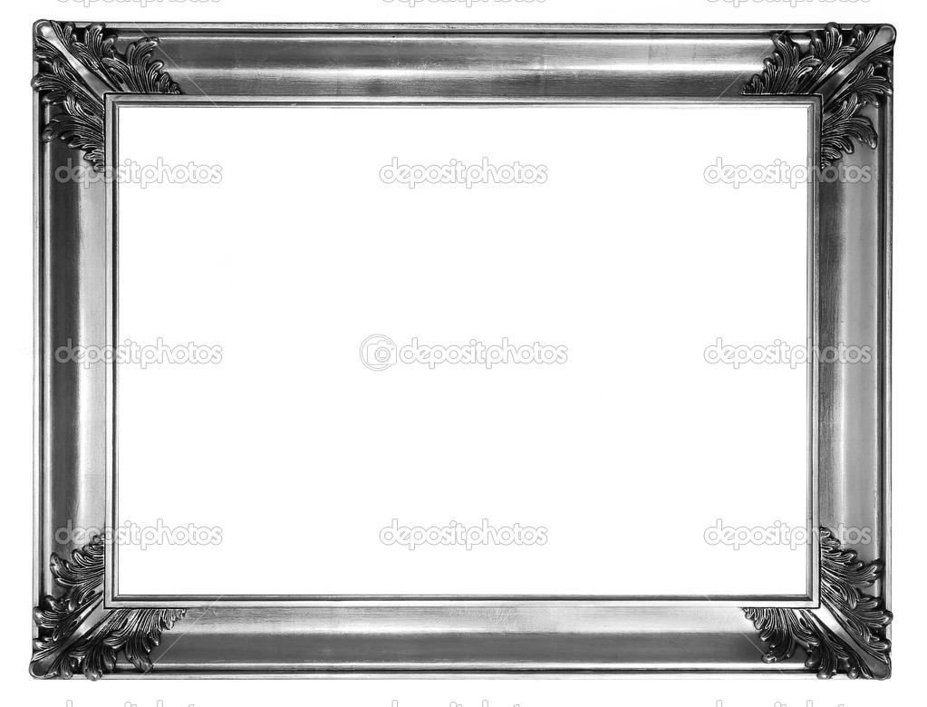 Silver frame — Stock Photo © macniak #4633992