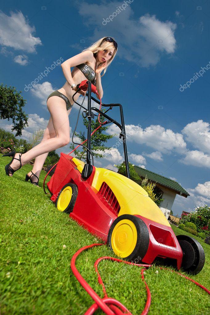 Dangerous Lawn Mowing Stock Photo 169 Kre Geg 4185488