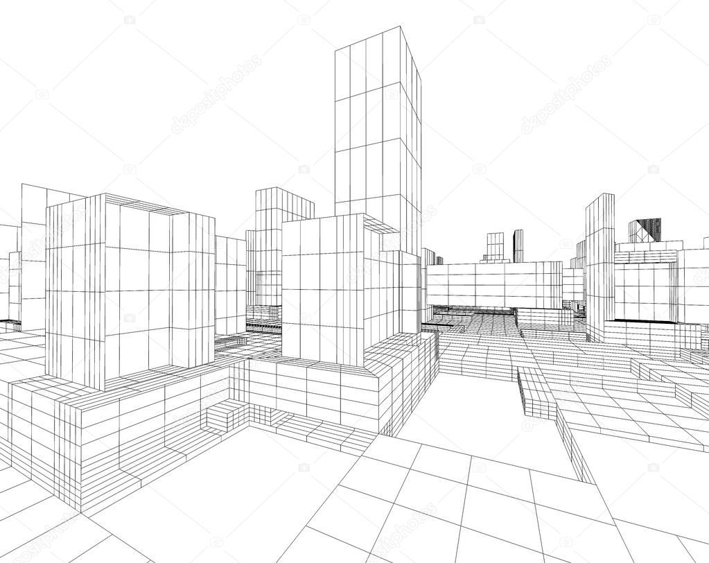 Architecture blueprint stock photo carloscastilla 4227260 architecture blueprint stock photo malvernweather Image collections