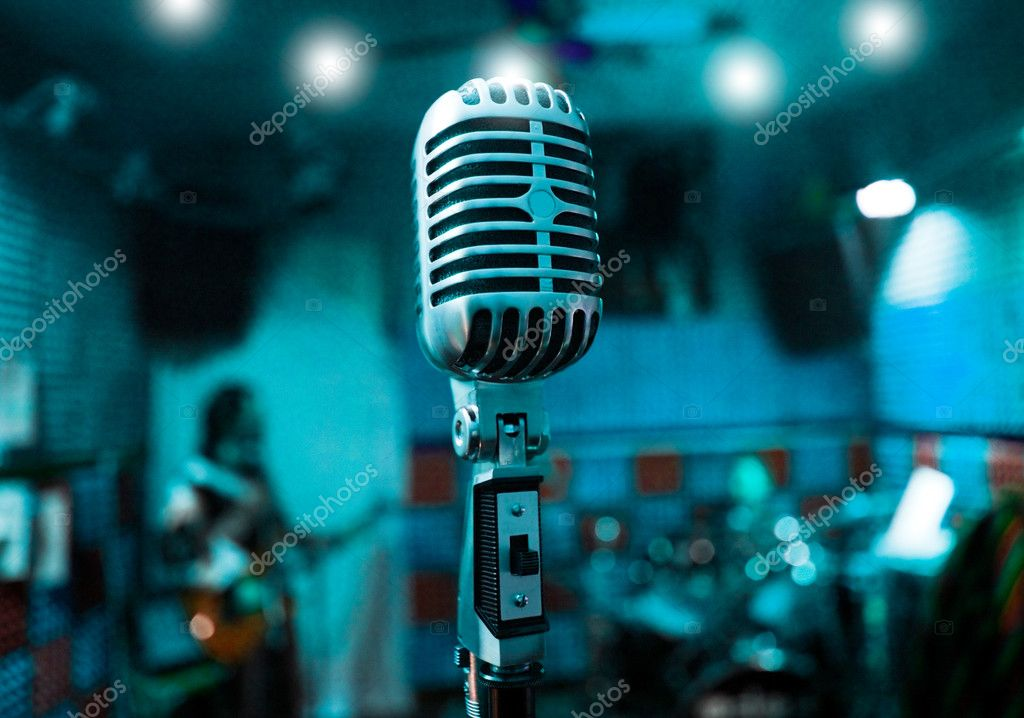 Microphone and musicians