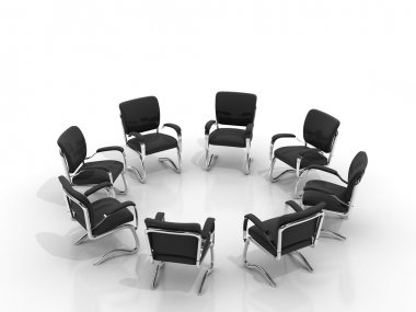 Chairs arranging round small group