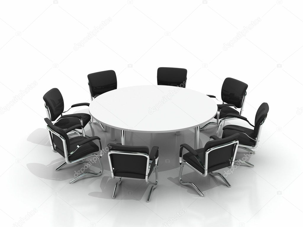 conference table and chairs stock photo apttone 3930343. Black Bedroom Furniture Sets. Home Design Ideas