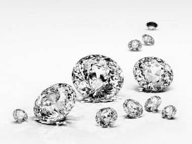 Diamond jewel isolated