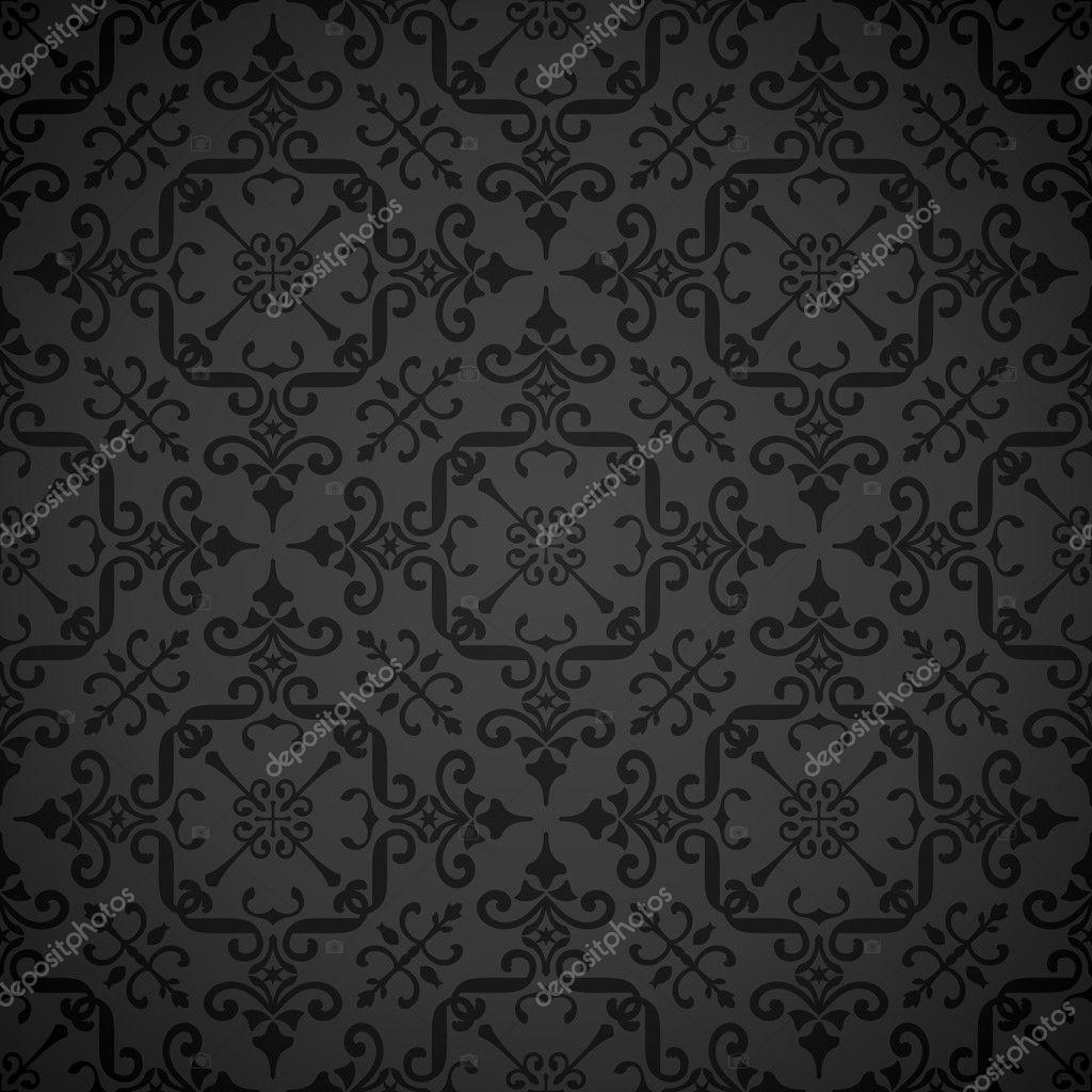 Seamless Ornate Elegant Wallpaper Background Stock Vector