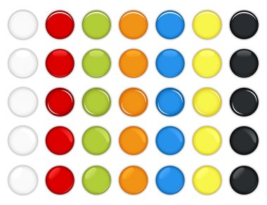 Colorful Glossy Button Vector