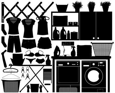 Laundry Design Set Vector