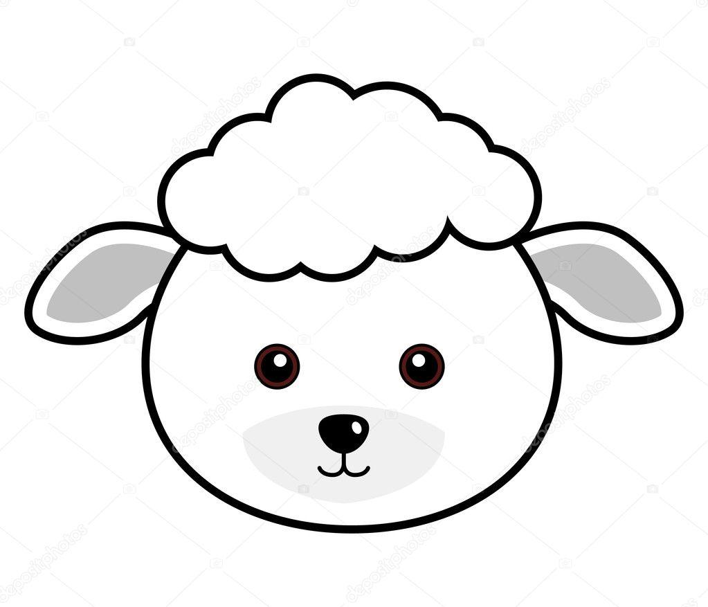 Cute Sheep Vector — Stock Vector © leremy #4559265