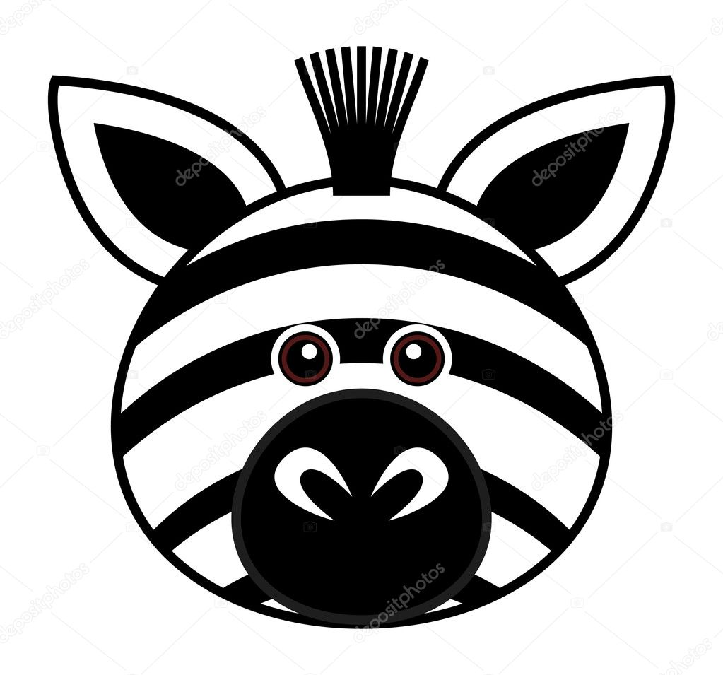 Cute Zebra Vector — Stock Vector © leremy #4559269