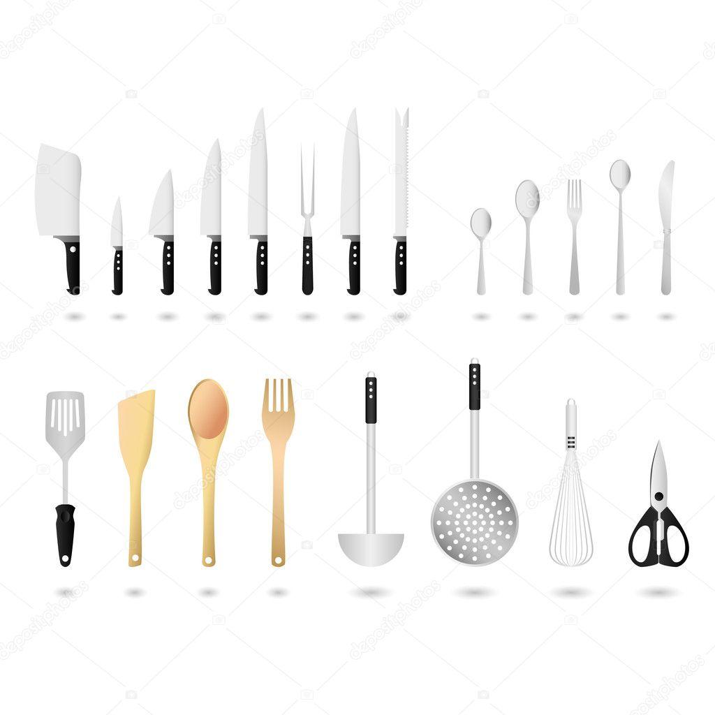kitchen utensils set vector � stock vector 169 leremy 4559582