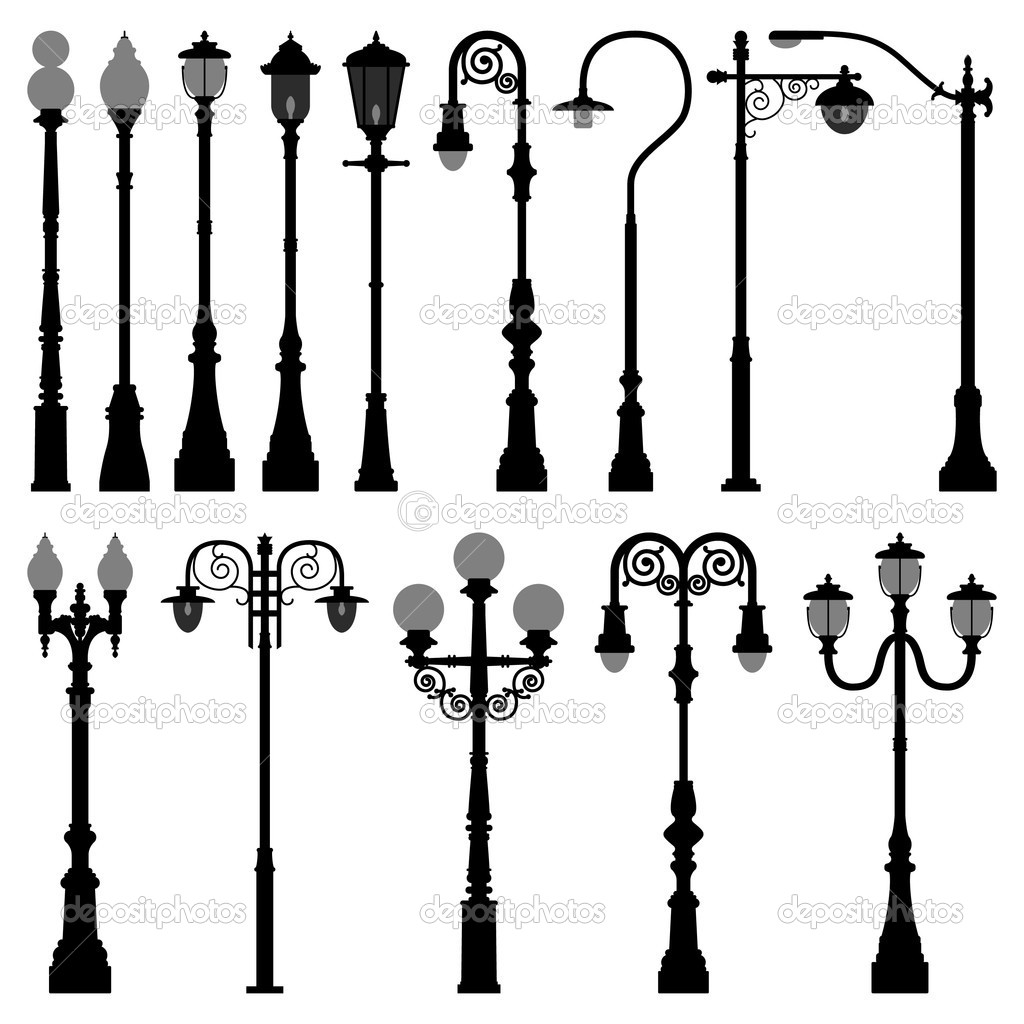 Lamp Post Lamppost Street Road Light — Stock Vector © leremy #4559672 for Street Lamp Post Vector  49jwn