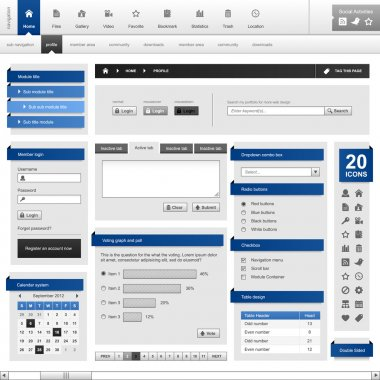 Web Design Element Template