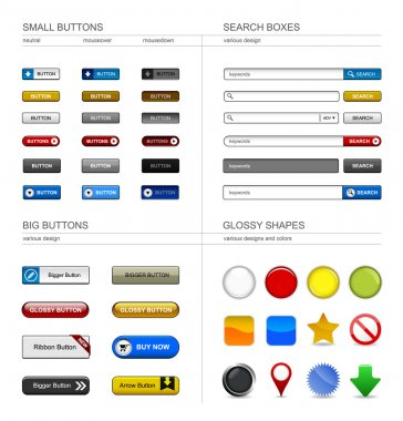 Web Design Button Element