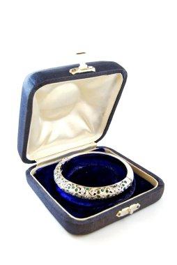Jewelry box with diamond wristband