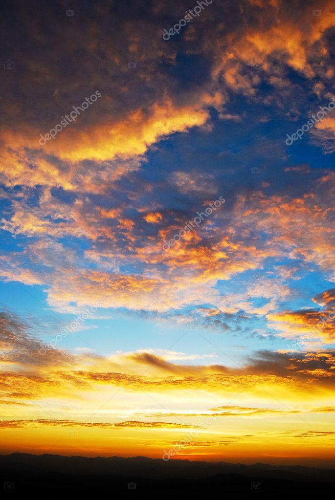 Beautiful twilight sunrise sky