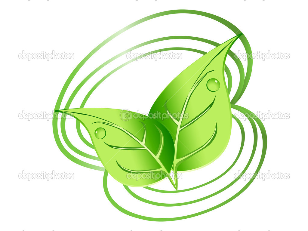 Green leaves design