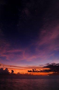 Stars sunset