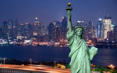Panorama of New York city stock vector