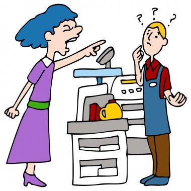 Angry Customer Yelling at Cashier