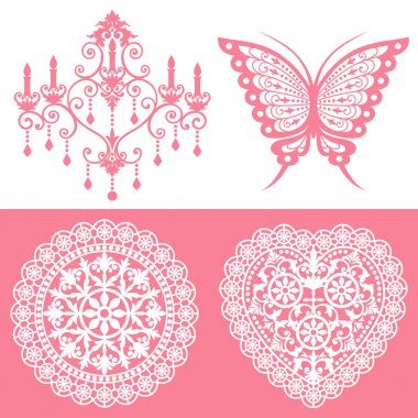 Lace ornaments set