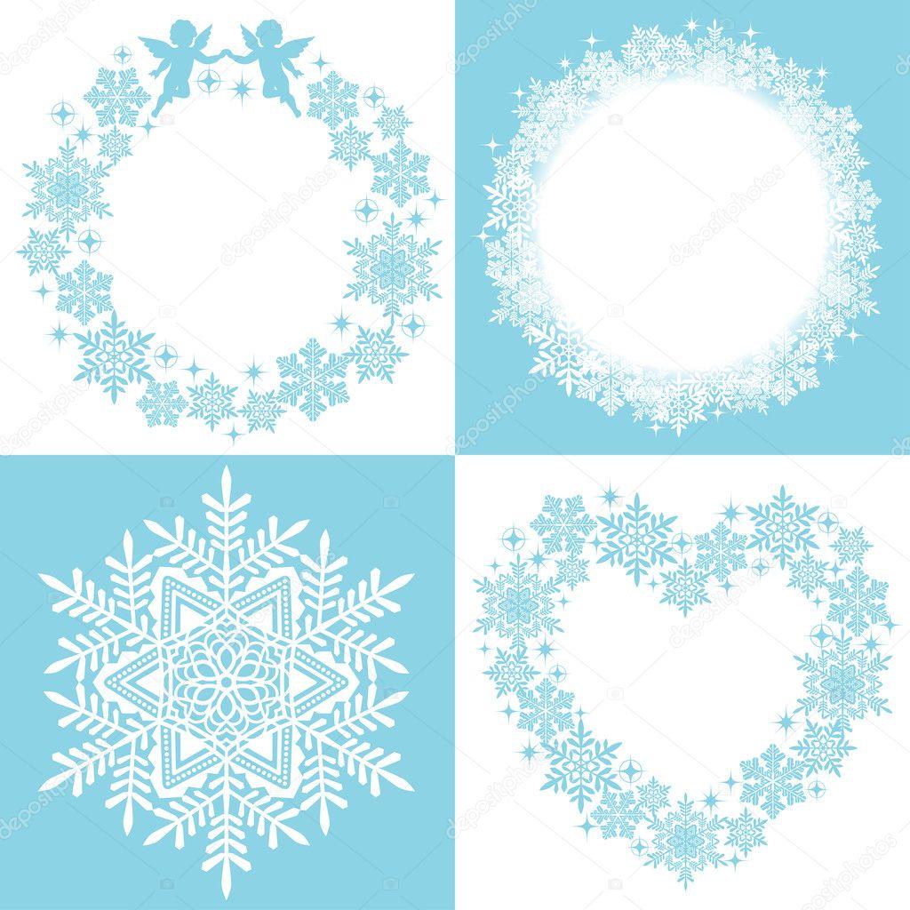 Wreath of snow crystal