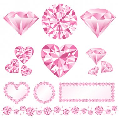 Decorative pink diamonds