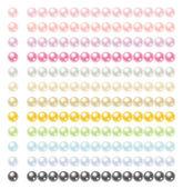 Színes gyöngyök 12 színek készlete