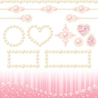 Decorative necklace pearls