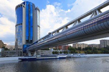 Pedestrian bridge Bagration, Moscow, Russia