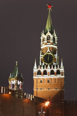 A Spassky tower of Kremlin, Moscow, Russia