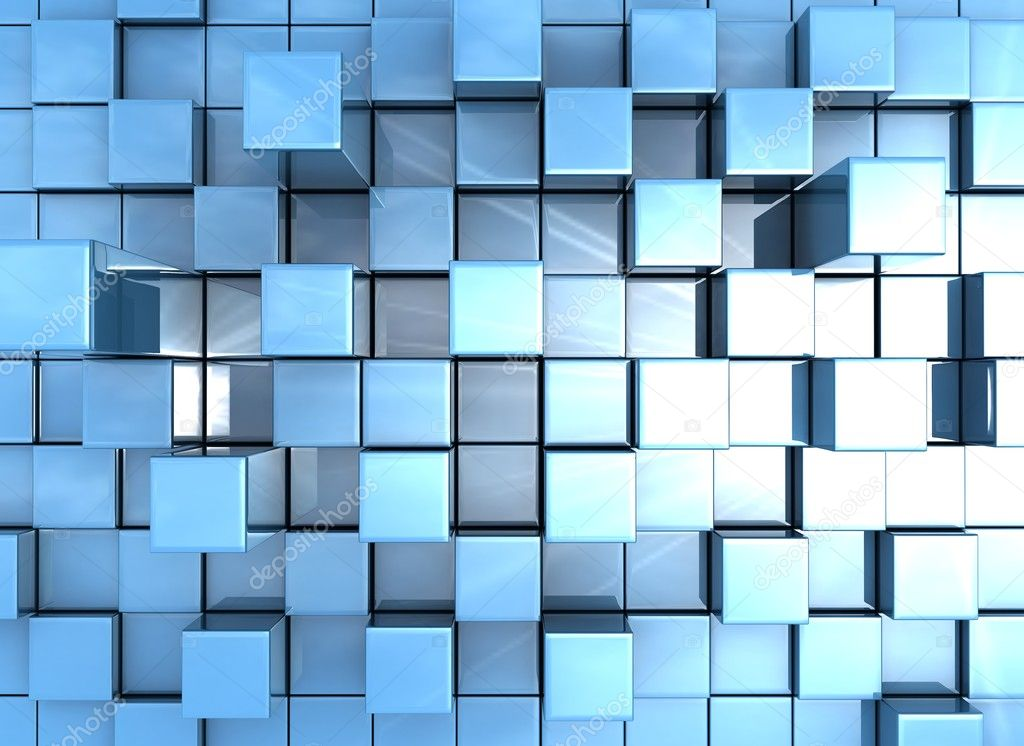3d abstract cubes background - photo #15