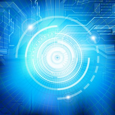 Abstract technology theme vector background. Eps10