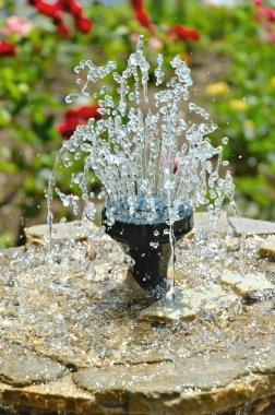 Little fountain in the garden