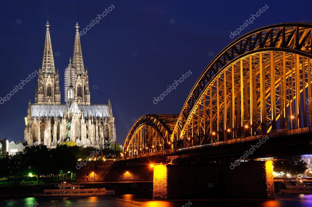 night at Cologne germany