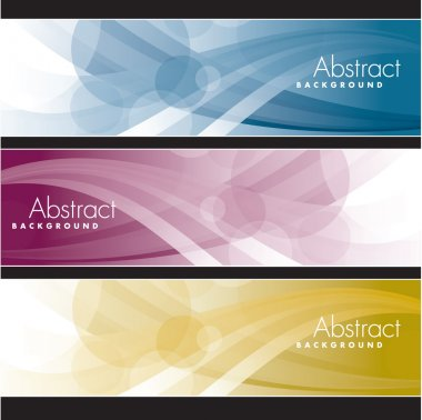 Abstract Banners Set. Vector Illustration.